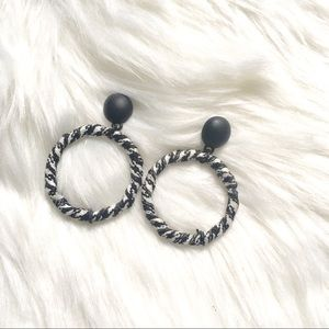 Jewelry - Black and White Statement Earrings